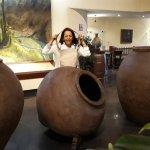 Cerámicas precolombinas que decoran el interior del hotel galerías