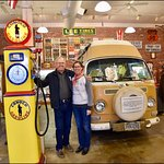 John & Deb in front of 1972 Bob Waldmire Microbus, Route 66 Association Hall of Fame & Museum