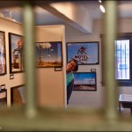 Deb in Jail, Upstairs Photo Exhibit, Route 66 Association Hall of Fame & Museum