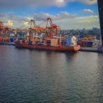 Cargo ships at the port of Vancouver