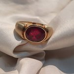 Natura Certifiedl Ruby Gold Ring made for our new Canadian Friends,By New Maharaja Gem Palace.