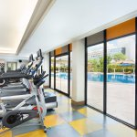 Gym Room with Swimming view at Health Club