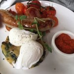 Full breakfast costed only $20, which was value for money! Juicy tomatoes & sausage! Pouched egg