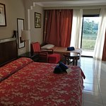 Large room, large and reasonably comfortable bed