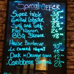 Specials list. not a cheap night out