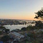 Beautiful sunset view on Phnom Krom