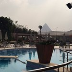 View from the pool area of Le Meridien Pyramids hotel