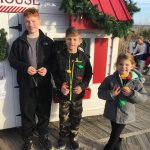 On boardwalk to see Santa!