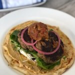 Openfaced Lamb Burger