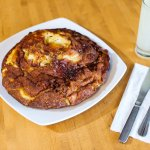 baked apple pancake - loaded with fresh granny smith apples and pure cinnamon glaze