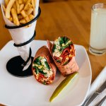 southwest veggie wrap makes for a great vegan option