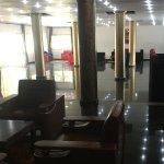 The shiny new reception area
