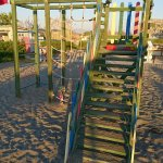 Playground for kids on the beach