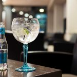 fancy a tipple? why not sip on a refreshing Bombay Sapphire paired with tasty Fever Tree tonic