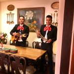 Two of the Mariachis during the Sunday buffet brunch; trumpet player was superb!