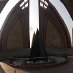 A closure view of the Pakistan Monument.