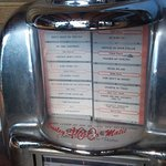Old fashioned table top juke box
