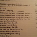 The Romanee-Conti page of the list - rest of the world was as well represented