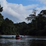 Kayaking on the Kabalebo River is one of the activities the lodge offers.