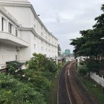 Railway line outside the hotel