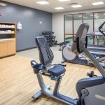 Stay fit in our new gym featuring the latest fitness equipment.