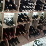 Rouge wine selection at the entrance