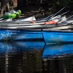 Canoes at Fish Eating creek outpost
