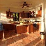 The villas shared kitchen