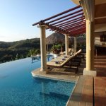 A view of one of the infinity pools