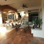 The villas shared lounge area