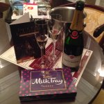 Champagne and chocolate on arrival