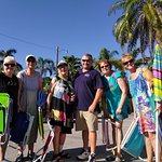 A nice group staying with us from Punta Gorda, pictured with G.M. Drew Ryan