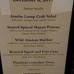 Chefs menu--nice!