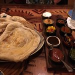 Amazing bread service and butter chicken