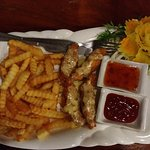 Chicken cheese french fries