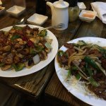 Kung Pao Beef (left) & Mongolian Beef (right)