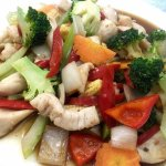 Chicken with fresh Chili Stir-fried