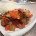 Sweet & sour with rice
