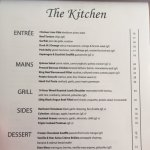 Kitchen Menu and Moseley has a Different Bar Menu