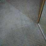 Stained, old carpet