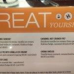 The calorific dessert menu