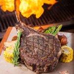 Tomahawk Ribeye steak with Certified Angus Beef bone in Ribeye