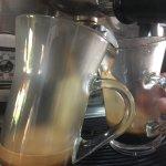 Café con granos orgánicos.
