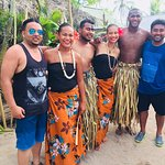 Photo with the island staff and performers amazing people