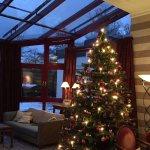 Wintergarten mit Weihnachtsbaum