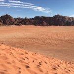 Desert view in Wadi Rum