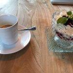 Blueberry Tiramisu, double espresso