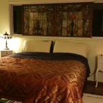 Orchid suite with beautiful stained glass window