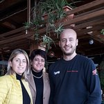 Me, Mary Gauci centre with Conrad and his sister Marthese Odyssey owners