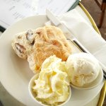 Scones and cream - huge and yum!